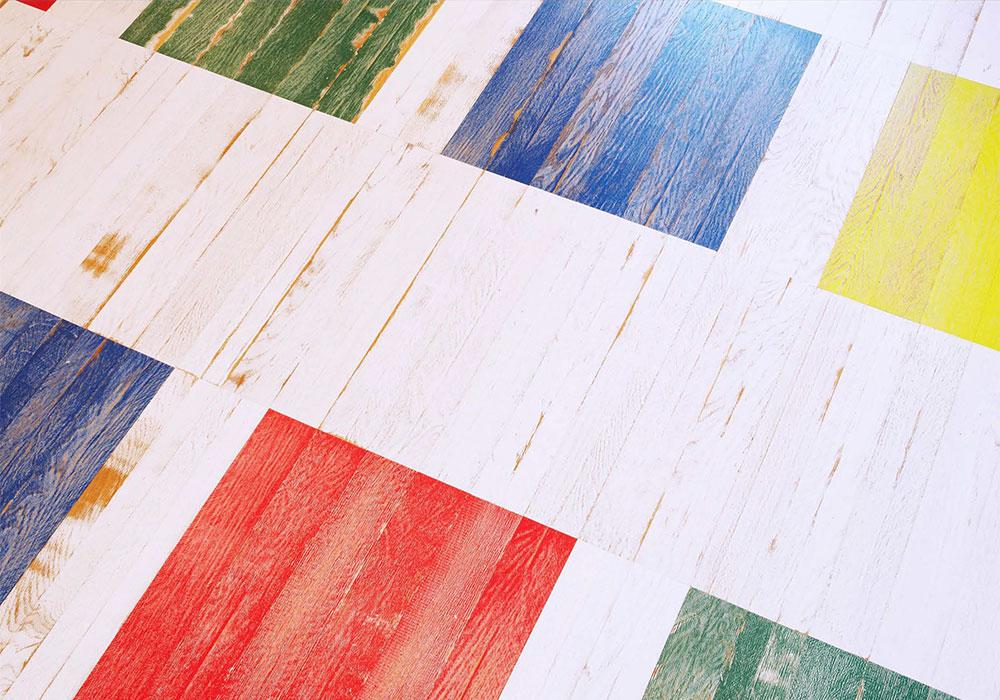 Состаренная инженерная доска Bauwerk Unopark Vintage Edition Дуб Blue intense (Синяя) + другие цвета