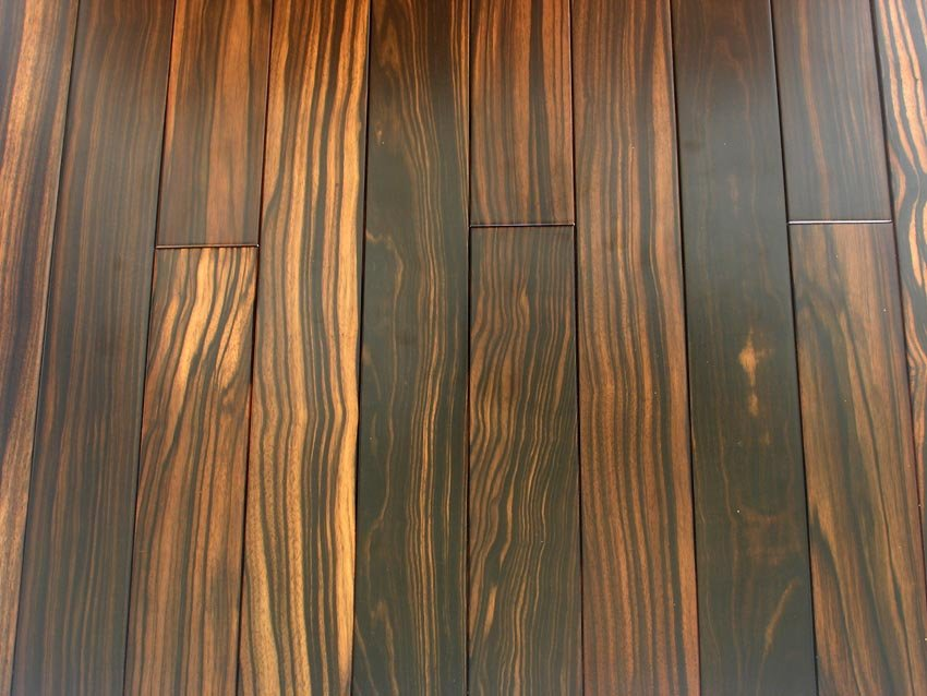 Черное дерево (ebony) 3х полосный - интерьер