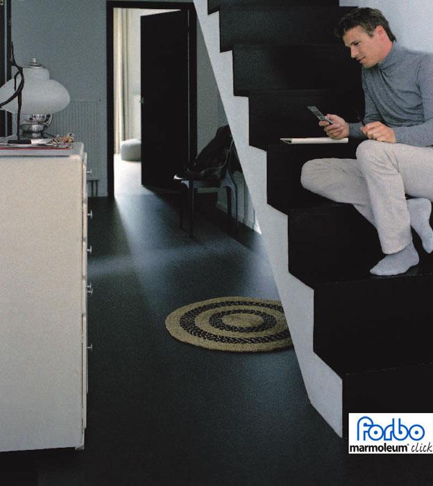 forbo marmoleum click raven 753209 763209. Black Bedroom Furniture Sets. Home Design Ideas